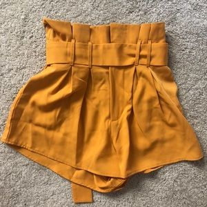 Pants - Yellow flowy shorts